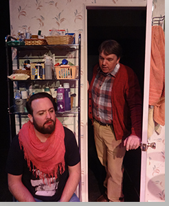 (Left to right) Brian Colonna as Narrator and Michael Morgan as Edward
