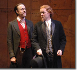 Matthew Mueller as Passepartout and Sam Sandoe as Phineas Fogg