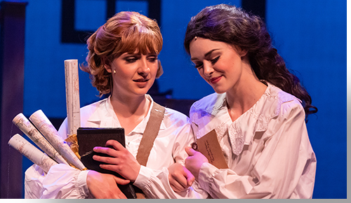 (Left to right) Emery Hines as Jo March and Charlotte Movizzo as Beth March