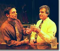 Photo of Step Pearce as Foster and Michael Shalhoub as Briggs