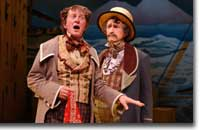 Photo of Jamie Horton as Geronte and Randy Moore as Argante
