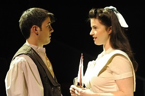 John Hauser as Young Stipan and Adrian Egolf as Miss Adamic