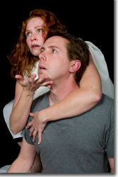 Crystal Verdon as the Angel and Craig Bond as Prior