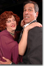 Photo of Cyndi Neal as Reno Sweeny and Chris Keener as Sir Evelyn Oakleigh