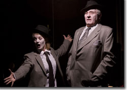 Jessica Robblee as Flake and Jim Hunt as Sheet