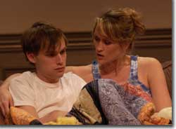 Photo of Tobias Segal as Justin Hammond and Angela Reed as Ashley Hammond