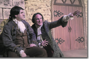 (Left to right) Michael Bouchard as Lenck and Sam Gregory as Fasch