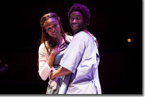 Shamika Cotton as Nella Pee and Jason Bowen as Ulysses Lincoln