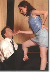 Photo of Brian L. Upton as James and Missy Moore as Ginger