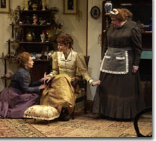 Photo of Robin Moseley as Claire, Annette Helde as Anna, and Kathleen M. Brady as Catherine
