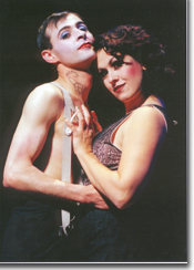 Photo of Brian Mallgrave (The Emcee)<br>and Alicia Dunfee (Sally Bowles)