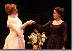Photo of Beverly Leech as Sarah Bernhardt and Monique Fowler as Eleonora Duse