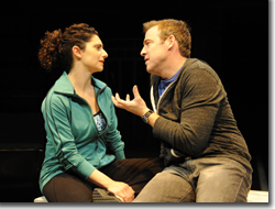 Makela Spielman as Beth and Ian Merrill Peakes as Gary