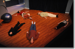 The ensemble of Curious Theatre Company's Circle Mirror Transformation