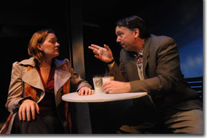 Rebecca Remaly as Hannah and Michael Morgan as Ted