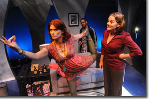 (Left to right) Jessica Austgen as Susan, Laurence Curry as David, and Rebecca Remaly as Hannah