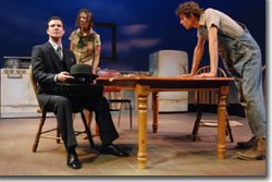 (Left to right) Josh Robinson as Taylor, Joanna Walchuk as Emma, and John Jurcheck as Wesley