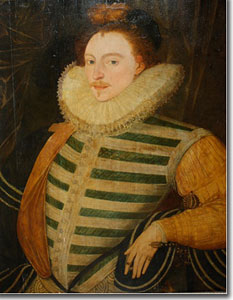 Edward de Vere, 17th Earl of Oxford (with performer's painted face)