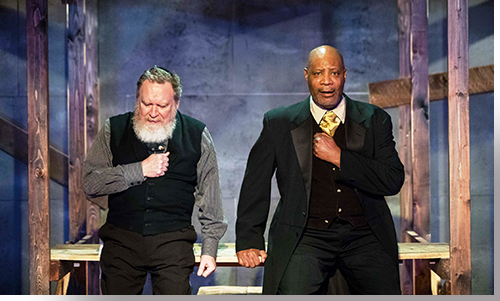 (Left to right) Chris Kendall as Shylock and Cris Davenport as Antoine Dupree