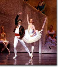 Photo of Igor Vassin (Basilio) and Maria Mosina (Kitri)