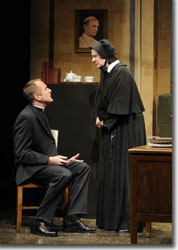 Sam Gregory as Father Flynn and Jeanne Paulsen as Sister Aloysius