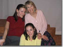 Photo of (Clockwise) Trina Magness as Artie, Patty Mintz Figel as Dorothea, and Jessica Posner as Echo