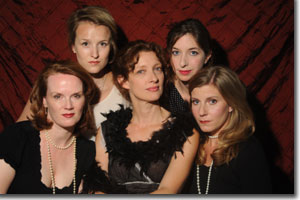 (Left to right) Rachel Fowler, Leah Watson, Mare Trevathan, Lauren Dennis, Barbra Andrews