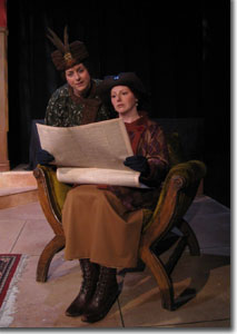 (Left to right) Haley Johnson as Lottie and Leslie Randle Chapman as Rose