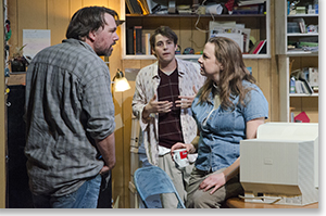 Michael Morgan as Bryan, John Hauser as Matthew, and Lindsey Pierce as QZ