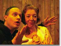 Photo: Christopher Leo and Ethelyn Friend in Fuddy Mears