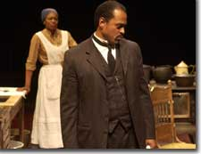 Photo of Kim Staunton as Black Mary and Terrence Riggins as Caesar