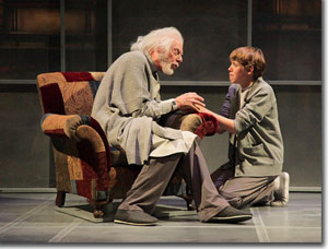 Philip Pleasants as the Giver and Alastair Hennessy as Jonas