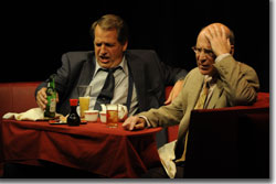 (Left to right) Lawrence Hecht as Dave Moss and Michael Santo as George Aaronow