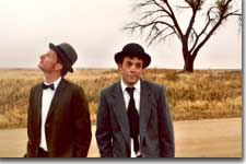 Photo of (L to R) Brett Aune (Vladimir) and Gary Culig (Estragon)