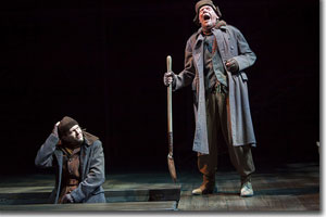 (Left to right) Anthony Bianco as Greavedigger's helper and Philip Pleasants as a Gravedigger
