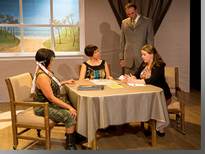 Arlene Rapal as Brittany, Marijke Jones as Ni-Bethu, Kevin Holwerda Hommes as Strap, and Sara Woodyard as Vi