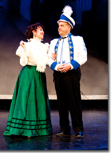 Alicia Dunfee as Dolly Levi and Wayne Kennedy as Horace Vandergelder