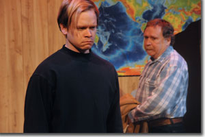 (Left to right) Ryan Wuestewald as Micah Staab and Chris Kendall as Gene Dinkel