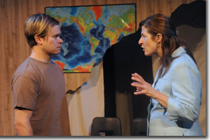 Ryan Wuestewald as Micah Staab and Emily Paton Davies as Susan Pierce