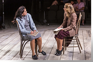 (Left to right) Andrea Goss as Chana and Lianne Marie Dobbs as Halina