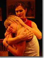 Photo of Rebecca Sage as Kess and Courtney Hayes as Sherry