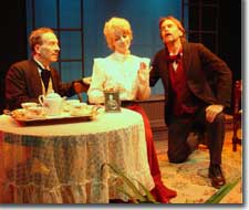 Photo of Terry Burnsed as Winfield, Theresa Reid as Viola, and Stephen R. Kramer as Amos