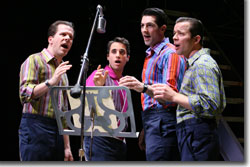 They put up their own money to record. (Left to right) Steve Gouveia as Nick, Joseph Leo Bwarie as Frankie, Josh Franklin as Bob, and Erik Bates as Tommy