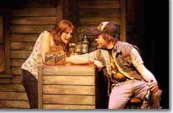 Photo of Chelsey Rives as Lizzy and Craig Pattison as Boone