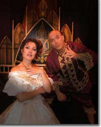 Photo of Shelly Cox-Robie as Anna and Wayne Kennedy as the King