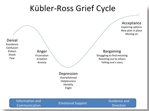 Kubler-Ross grief cycle