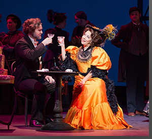 Heath Martin as Alcindor and Monica Yunus as Musetta