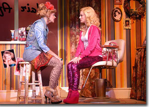 (Left to right) Sarah Rex as Paulette and Hayley Podschun as Elle