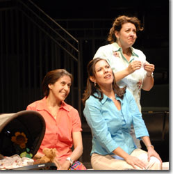 (L to R) Socorro Santiago as Zoila Tezo, Romi Dias as Ana Hernandez and Gabriella Cavallero as Sandra Zavala