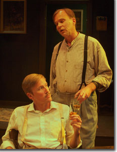 (Left to right) Zachary M. Andrews as Edmund and Stephen R. Kramer as Jamie